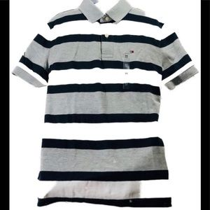 "Stripped Tommy Hilfiger ""M"" Gray and Blue"